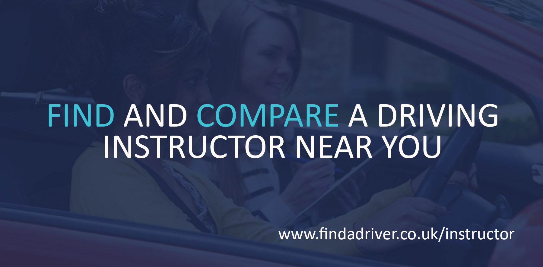 Find a driving instructor - banner
